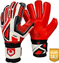 Renegade GK Fury Goalie Gloves (Sizes 7-11, 6 Styles, Level 4) Pro-Tek Fingersaves & 4mm Giga Grip | High Perf. Pro-Level Goalkeeper Glove | Superior Grip, Protection, Comfort