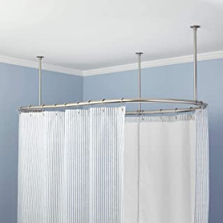 d shower curtain rod