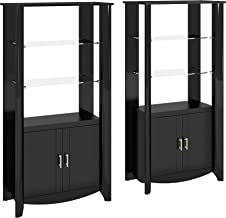 Aero Set of 2 Tall Library Storage Cabinets with Doors