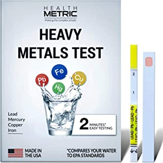 Lead Iron Copper and Mercury - Home Water Test Kit for Well Tap and Drinking Water | Fast & Accurate Quality Testing to EP...