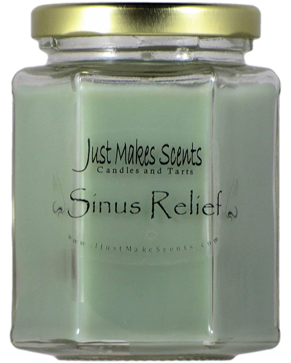 コードレス繰り返した木曜日Sinus Relief ( Vicks Vapor Rubタイプ)香りつきBlended Soy Candle by Just Makes Scents ( 8オンス)
