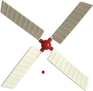 Repuestos para molino de viento de jardín Windmill Sails. Ref: 30,4 cm de diámetro, grande, CTR rojo (solo cambia las aspas por otras con el mismo color del centro, rojo o blanco).