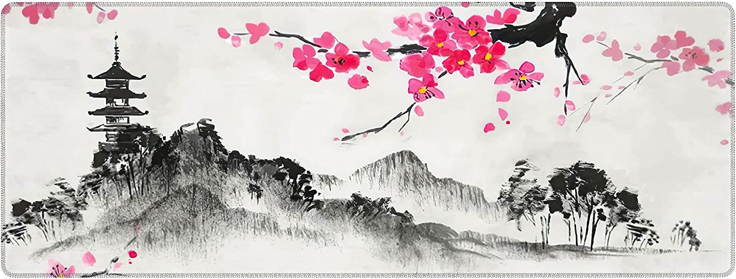 Cherry Blossom Miami Mall Mouse Pad Japanese Sakura Painting Bargain sale Ext Watercolor