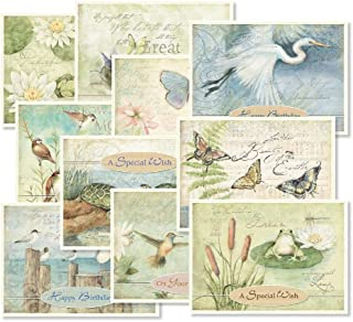 Nature's Sanctuary Birthday Greeting Cards Value Pack - Set of 20 (10 designs), Large 5