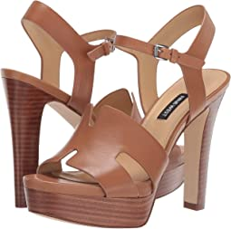 ca4dc17ca57 Nine West. Alina Wedge Sandal.  119.00. New. Dark Natural