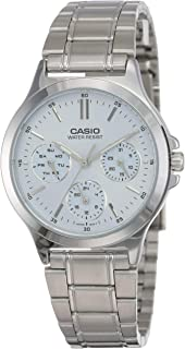 Casio Women's Blue Dial Stainless Steel Band Watch - LTP-V300D-2AUDF