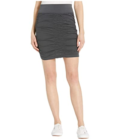 XCVI Wearables Solid Trace Skirt (Charcoal) Women