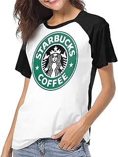 Womens Classic Logo Shirt Cotton Tshirts Short Fitness Clothes Casual Shirts Plus Size Tops for Women/Teen Girls