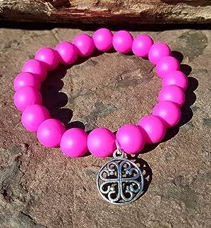 Hot Pink Silcone Bracelet Bella Cuff not Rustic Cuff Catherine