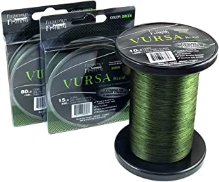 Fitzgerald Vursa Braided Fishing Line - The 8 Strand, Longer Casting, Fade Resistant Freshwater and Saltwater Fishing Line - Green