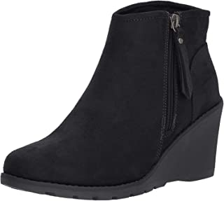 BOBS Women's Tumble Weed. Side Zip Wedge Bootie W Memory Foam Ankle Boot