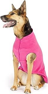 Gold Paw Stretch Fleece Dog Coat – Soft, Warm Dog Clothes, Stretchy Pet Sweater – Machine Washable, Eco Friendly – All Season – Sizes 2-33, Fuchsia, Size 14