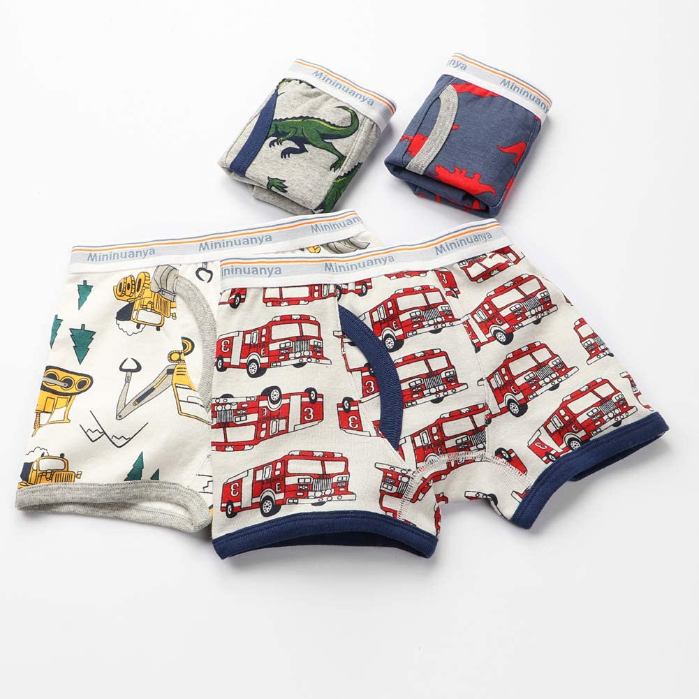 Boys' Boxer Briefs Shorts Toddler Kids Cotton Underwear 6 Pack