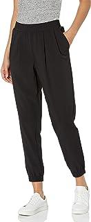 Daily Ritual Pantalón para Jogger de Sarga con puños Acanalados Tejido elástico Fluido Pantalones para Mujer