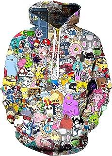 18e6a31e0fc4 Anime 3D Print Cartoon Hooded Hoody Casual Long Sleeves Hoodie Outwear