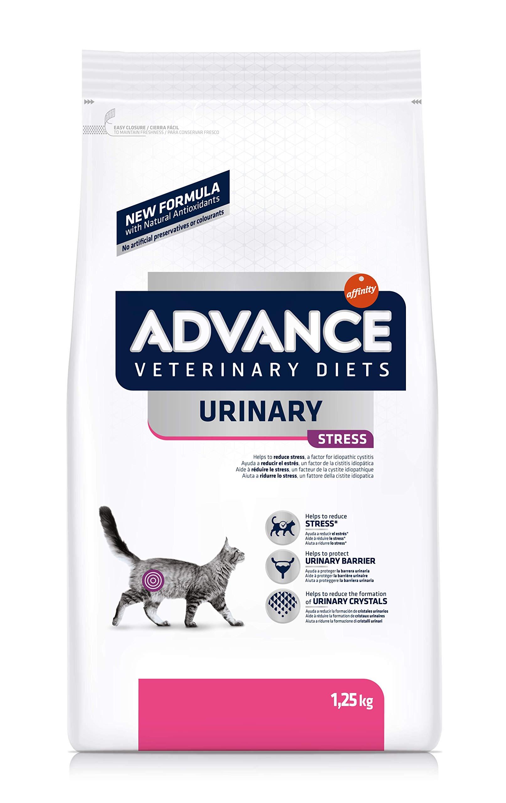 Advance Veterinary Diets Urinary Stress - Pienso para Gatos,1.25 kg: Amazon.es: Productos para mascotas