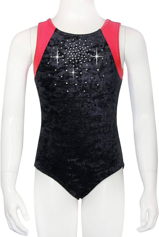 GymStern Jesika ML110961 Short-Sleeved Leotard Made of Bi-Elastic Crash Velvet /& Lycra with Glitter Effect