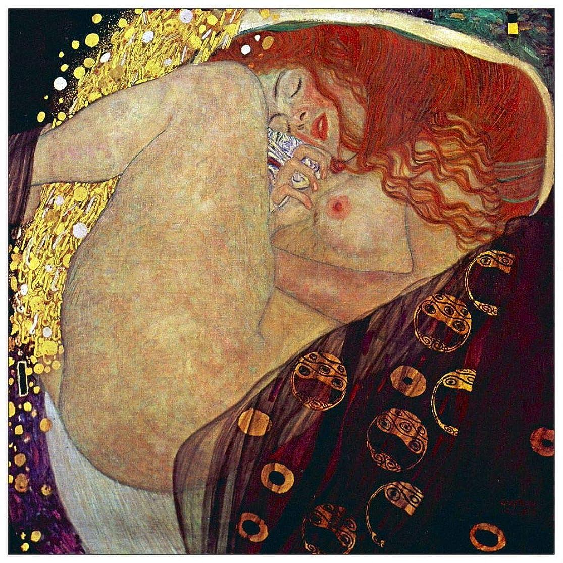 ArtPlaza TW90266 Klimt Gustav - Danae Decorative Panel 31.5x31.5 Inch Multicolored bdwgetsd8