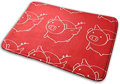 Piggy Cute Carpet Non-Slip Welcome Front Doormat Entryway Carpet Washable Outdoor Indoor Mat Room Rug 15.7 X 23.6 inch