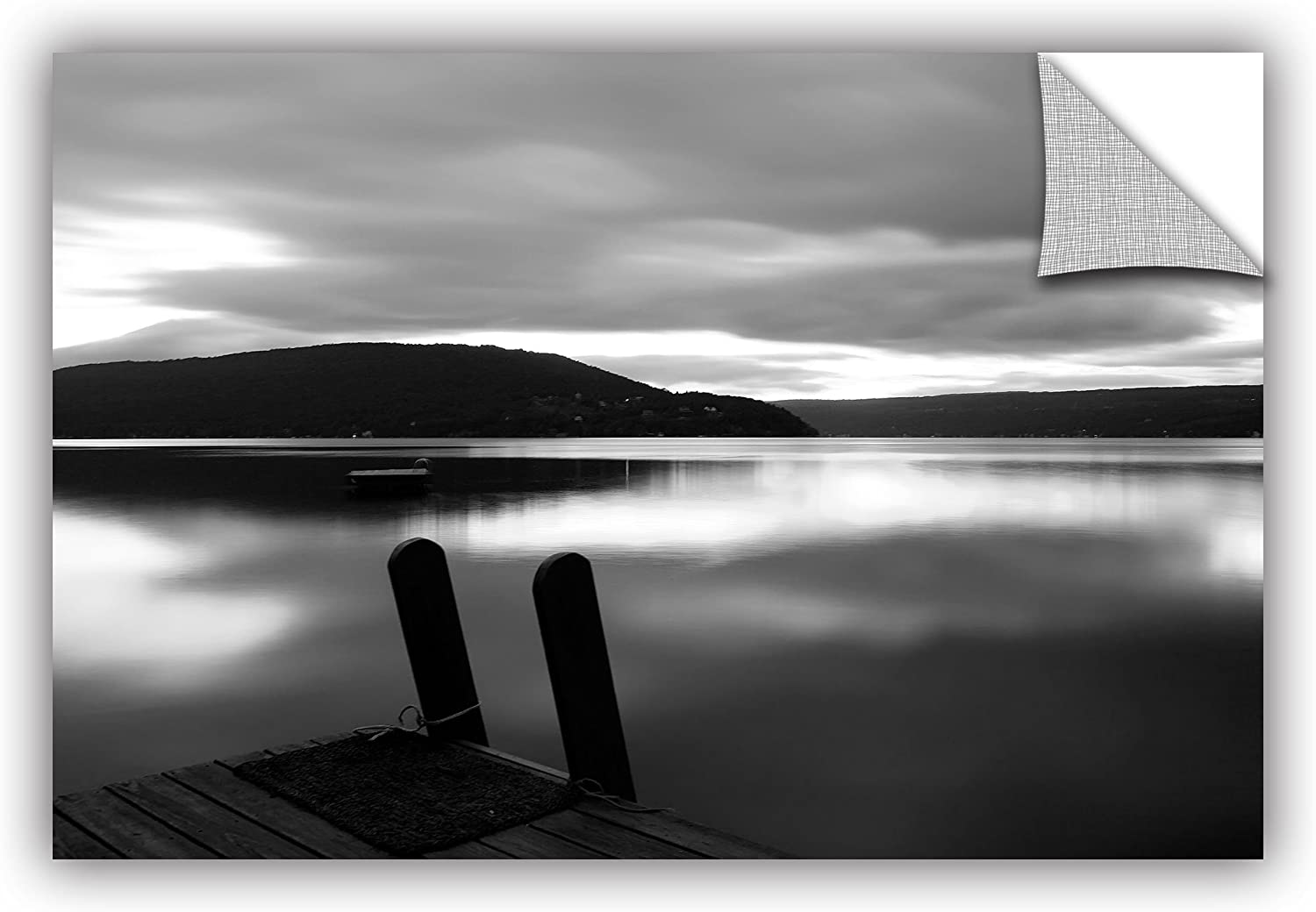 Art Wall 0ain092a1624p Steve Ainsworth's Still Waters Art Appeelz Removable Graphic Wall Art, 16x24Inch