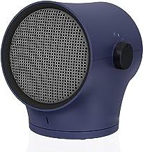 UELEGANS Calefactor Eléctrico Calefactor Cerámico Portátil 1000W Ajuste de 3 Engranajes con Oscilación Automática, Protección contra Sobrecalentamiento y Volcado, para Hogar y Oficina,Azul