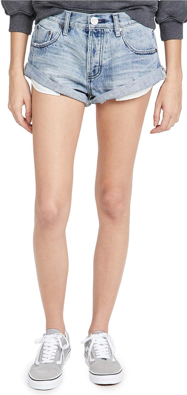 One Teaspoon Women's Salty OG Bandit Low Waist Denim Shorts