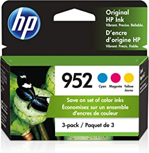 HP 952   3 Ink Cartridges   Cyan, Magenta, Yellow   Works with HP OfficeJet Pro 7700 Series, 8200 Series, 8700 Series   L0S49AN, L0S52AN, L0S55AN