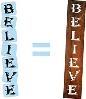 Believe Porch Stencil Kit, Reusable & Sturdy, Paint Your Own Wood Sign