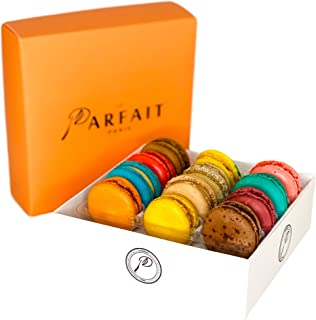 Macaron Variety Box by Award Winning French Bakery Le Parfait Paris. Includes 12 Flavors, All Natural Ingredients, Guaranteed Fresh! Perfect Gift For Birthdays, Holidays, Special Events And More!