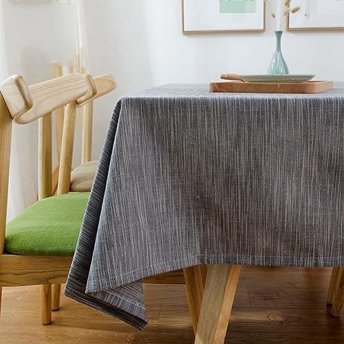 ASL Leinen Square wasserdichte Tischdecke Stoff Home Solid Farbe ländlicheen Tisch Tuch Rechteck w en