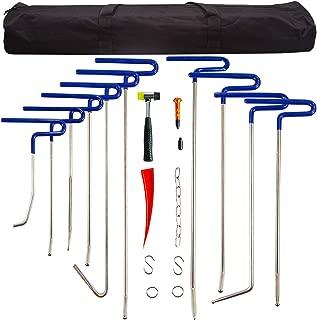 MMPP Dent Removal Rods Set Paintless Dent Repair Tools for Car Dent Remover Puller Hail Damage Repair Kit (B2-B11)