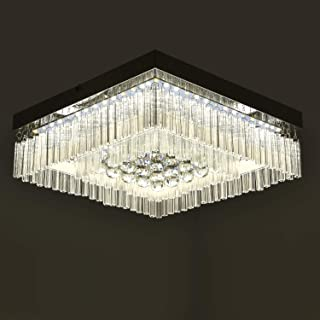 Horisun LED Flush Mount Ceiling Light Modern Crystal Ceiling Lamp 1980ML Dimmable Crystals Ball Fixture Minimalist Chandelier for Dining Room, Bedroom, Bathroom, Kitchen