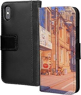 Japan 90S Retro High Street PU-läder plånbok i kort telefonfodral skydd för Huawei P Smart 2019