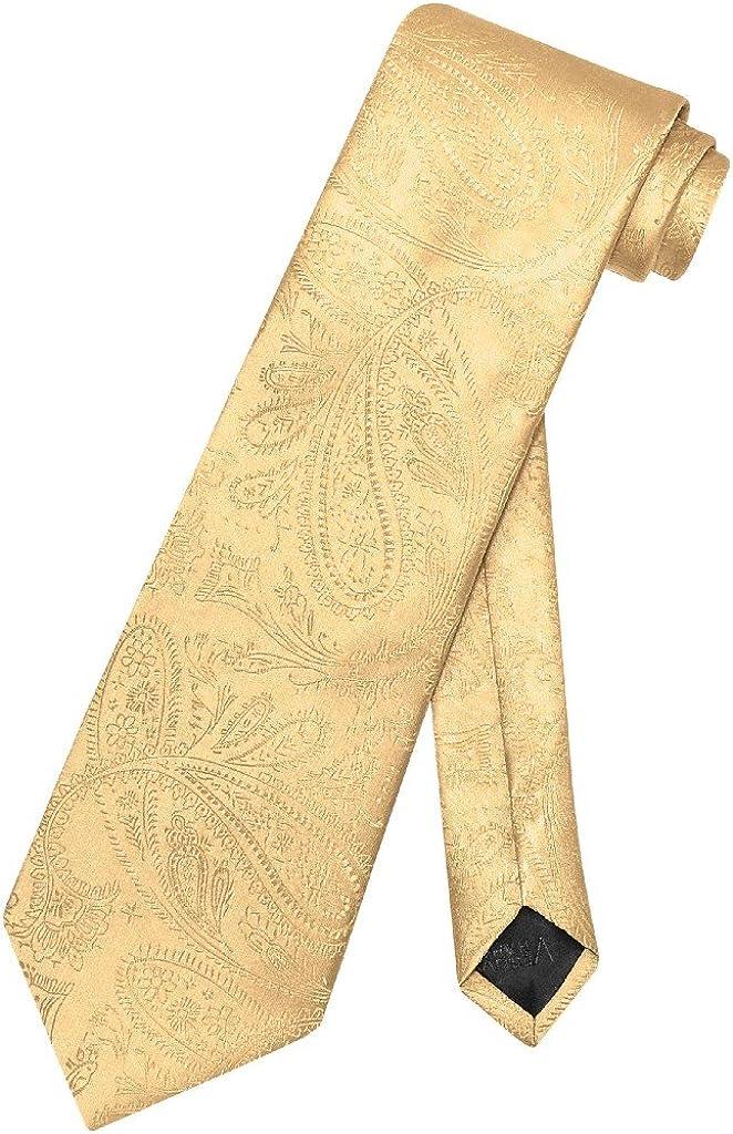 Vesuvio Napoli NeckTie GOLD Excellence Color Tie Paisley Neck Design Men's Wholesale