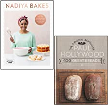 Nadiya Bakes by Nadiya Hussain and 100 Great Breads by Paul Hollywood 2 Books Collection Set