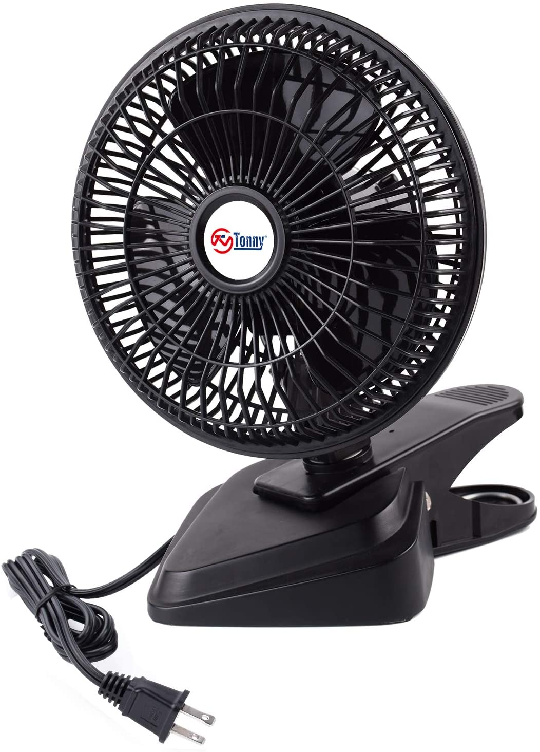 TN TONNY Convertible 6-Inch Desk & Clip Fan Two Quiet Speeds, Household Table Fans AC Personal Fans with 4 Feet Cord, Ideal for The Home, Office, Dorm, Black