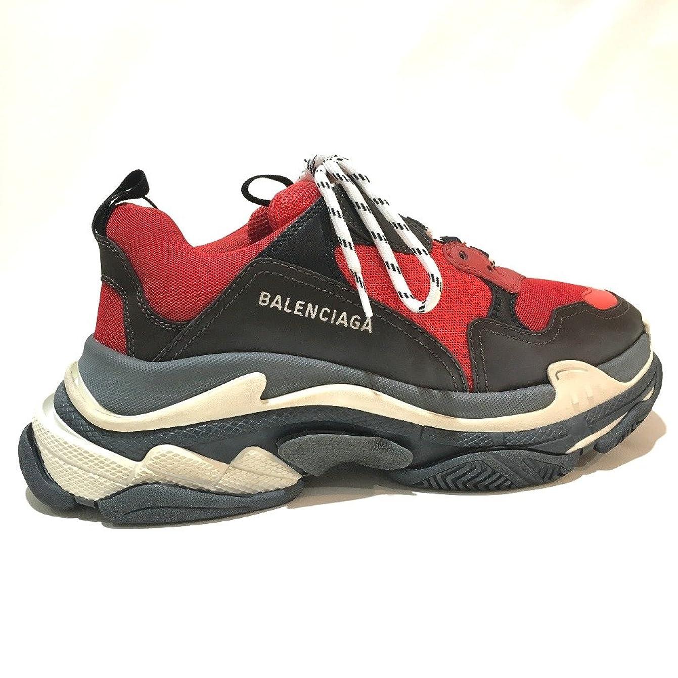 スクラップ規範行進(バレンシアガ) BALENCIAGA 516440 Triple S shoes ユースド加工 メンズシューズ 靴 トリプルS トレーナー 2018ss スニーカー メンズ 未使用 中古