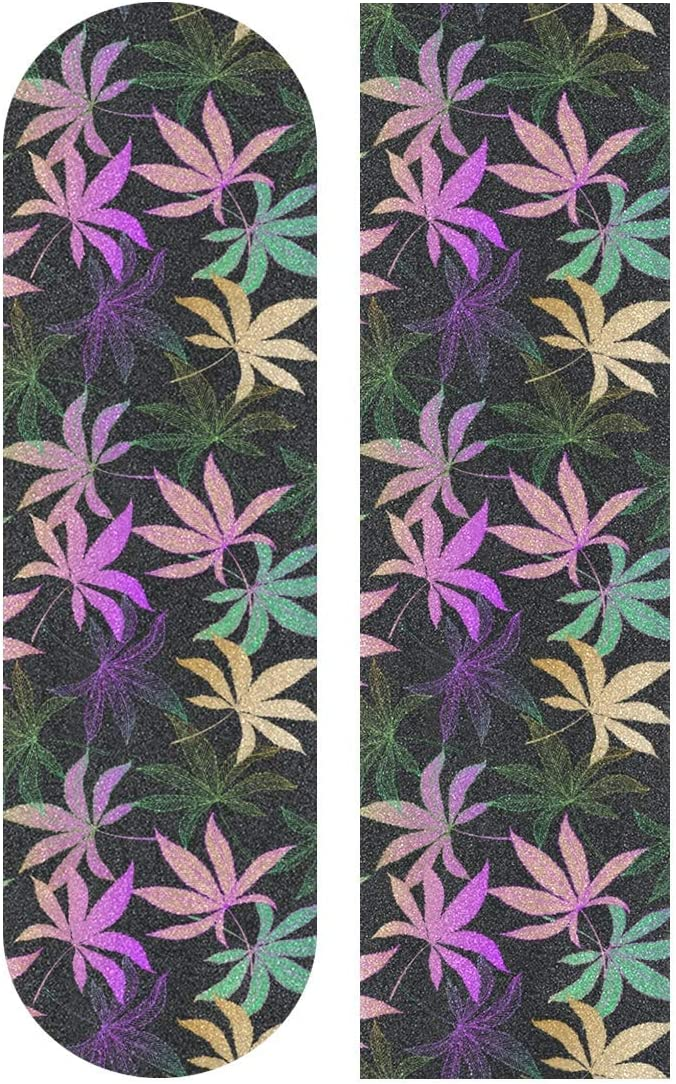 Gradient Colorful Marijuana Cannabis Hemp Leaf Pattern Purple ...