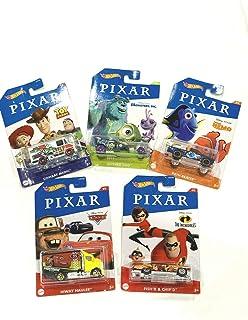 DieCast Hotwheels 2020 Pixar Series Set of 5 Cars, Toys Story - NEMO - Monsters Incredibles!