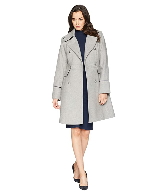 Vince Camuto Wool Coat R8361 (Light Grey) Women