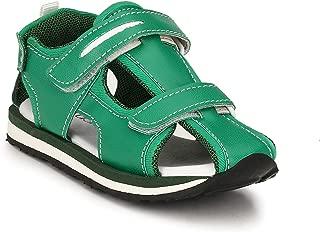Tuskey Kids Genuine Leather Shoes Antislip Antiskid Casual Sandals for Kids Boys