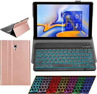 Samsung Galaxy Tab A 10.5 Keyboard Case - 2018 Model SM-T590/T595/T597 - Slim PU Leather - Removable BT/Wireless Keyboard - Ultra Thin & Light - Front and Back Protection - S Pen Holder (Rose Gold)