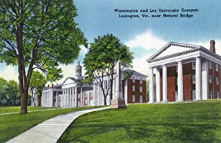 Lexington, Virginia - Campus View of Washington and Lee University near Natural Bridge (16x24 Fine Art Giclee Gallery Print, Home Wall Decor Artwork Poster)
