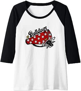 Womens Cheerleader Cheer Bulldogs School Sports Fan Team Spirit Raglan Baseball Tee