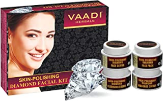 Vaadi Herbals Facial Kit - Skin-Polishing Diamond Facial Kit All Natural Suitable For All Skin Types And Both For Men And Women 70 Grams -