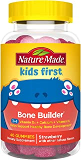 Nature Made Kids First Bone Builder with Vitamin D, Calcium, and Vitamin K2 40 Count