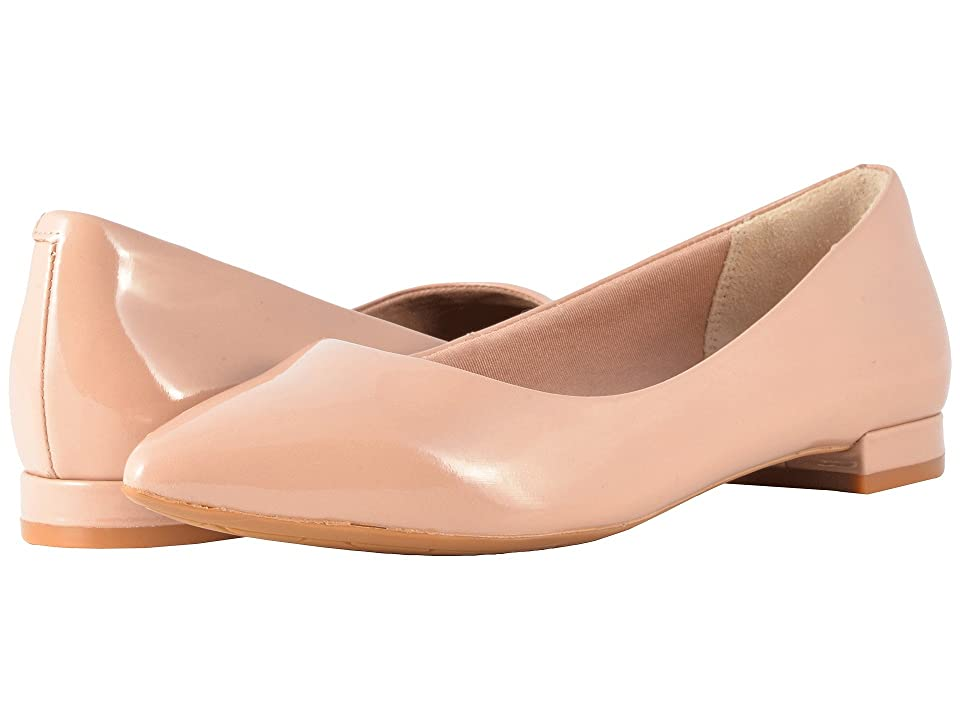 Rockport Total Motion Adelyn Ballet (Warm Taupe Soft Patent) Women
