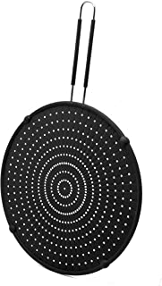 Beckon Ware Silicone Splatter Screen for Frying Pan - 13 inch Multi-Use Splatter Shield, Cooling Mat, Drain Board and Stra...