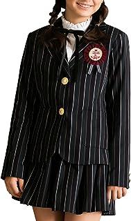 [アリサナ]arisana 卒業式 小学生 女の子 スーツ 子供服 フォーマル ロゼ (ジャケット + キュロット + リボンタイ + ワッペン の 4点 セット)