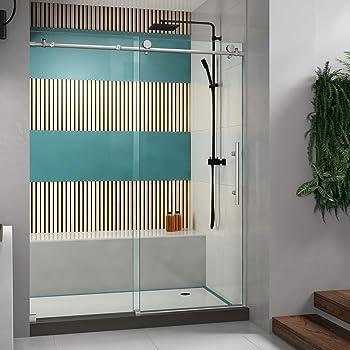 DreamLine Enigma-X Brushed Stainless Steel Sliding Shower Door